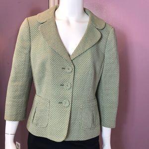 Ann Taylor Single-Notched Collar Tweed Jacket